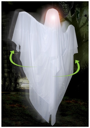 Click Here to buy Hanging Rotating Ghost from HalloweenCostumes, CDN Funds