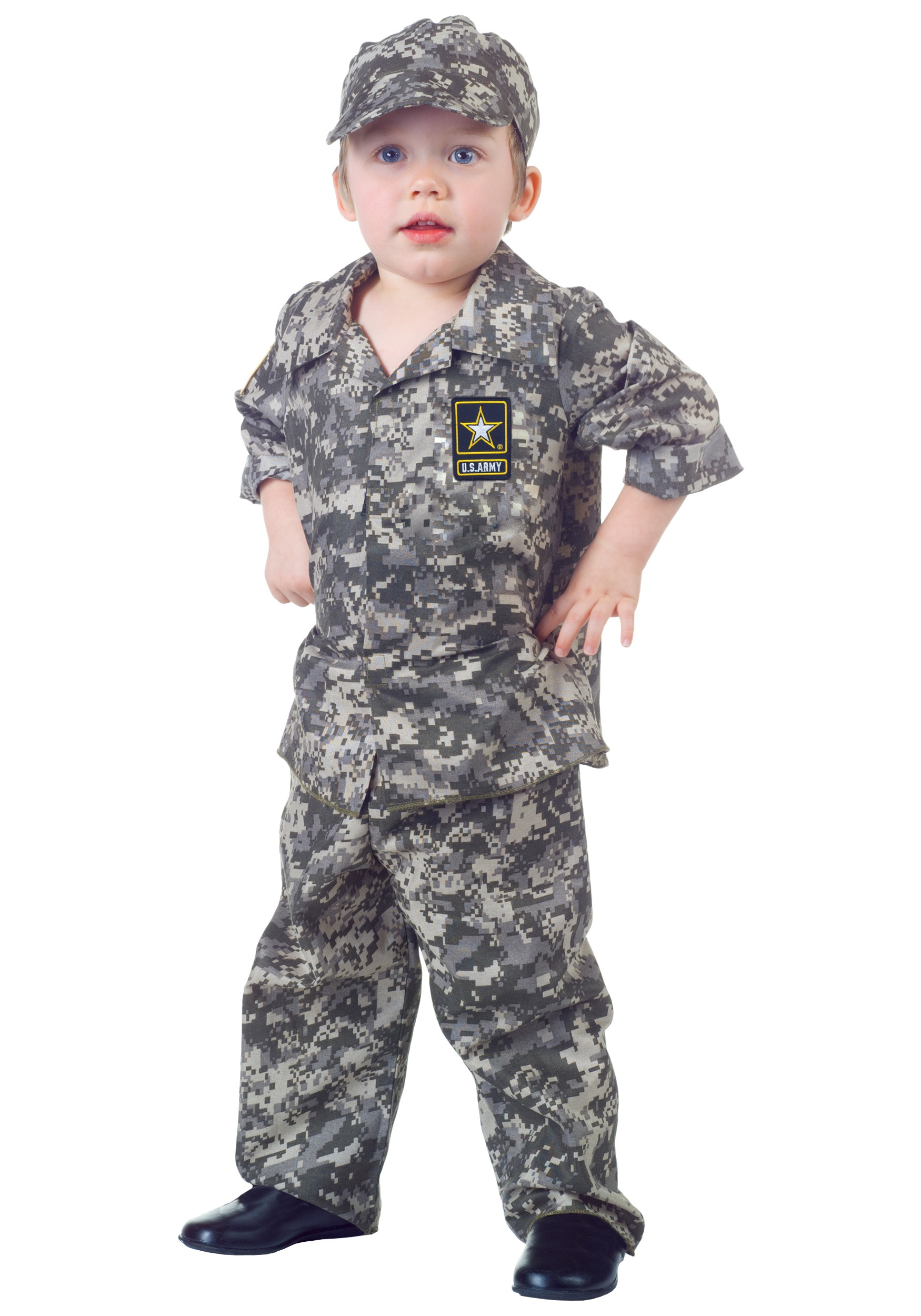 Toddler camo army costume for Air force decoration writing guide