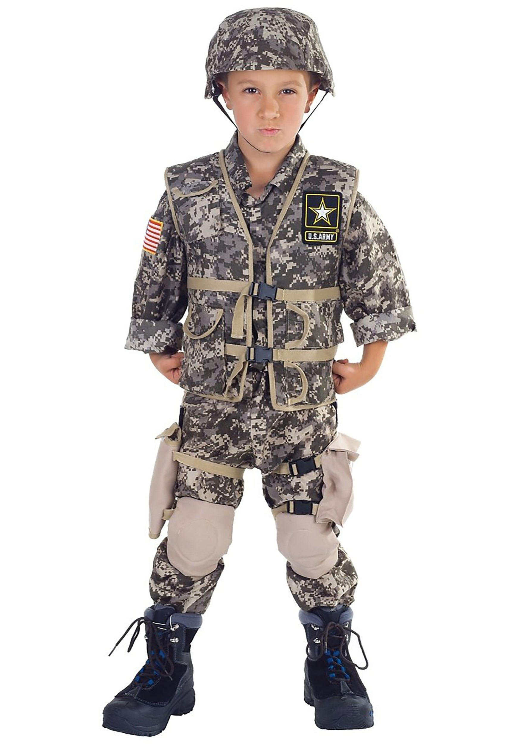 kids deluxe us army ranger costume - Halloween Army Costume