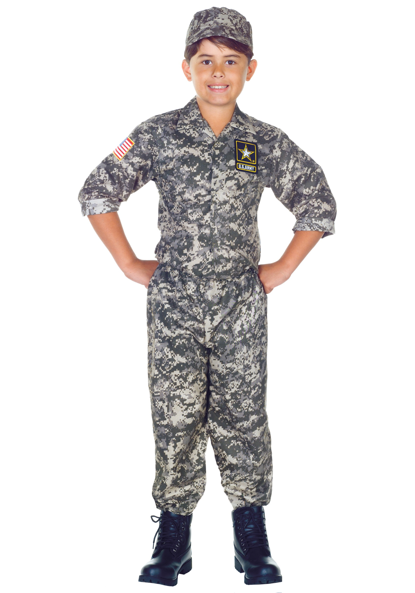 Child U.S. Army Camo Costume  sc 1 st  Halloween Costumes & Child Army Camo Costume
