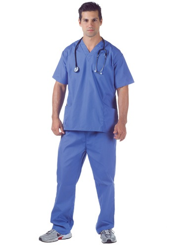 Plus Size Doctor Scrubs Costume By: Underwraps for the 2015 Costume season.