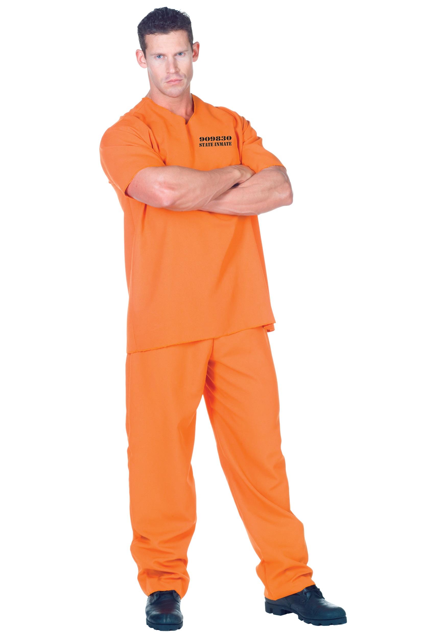 Plus Public Offender Inmate Costume  sc 1 st  Halloween Costumes & Plus Public Offender Inmate Costume 2X 4X