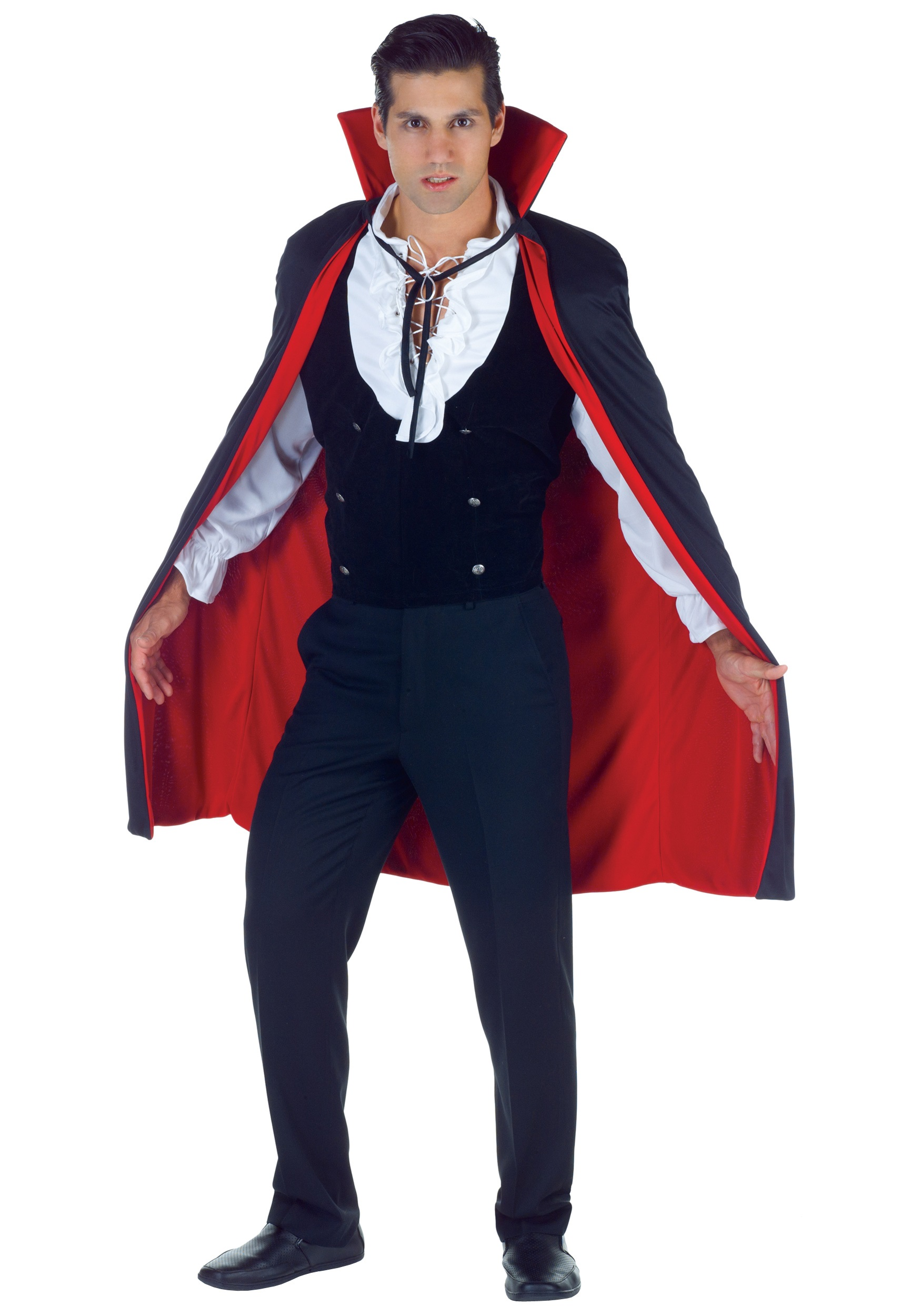 black and red high collar cape - Halloween Costumes With A Cape