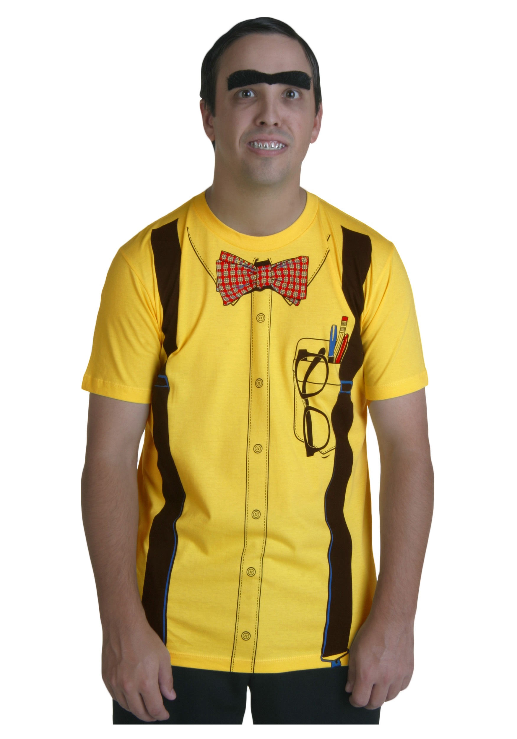 classic yellow nerd t shirt - Classic Mens Halloween Costumes