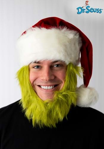 Grinch Hat with Fur Beard1