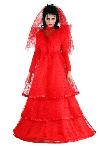 Click Here to buy Red Gothic Wedding Dress Costume from HalloweenCostumes, CDN Funds