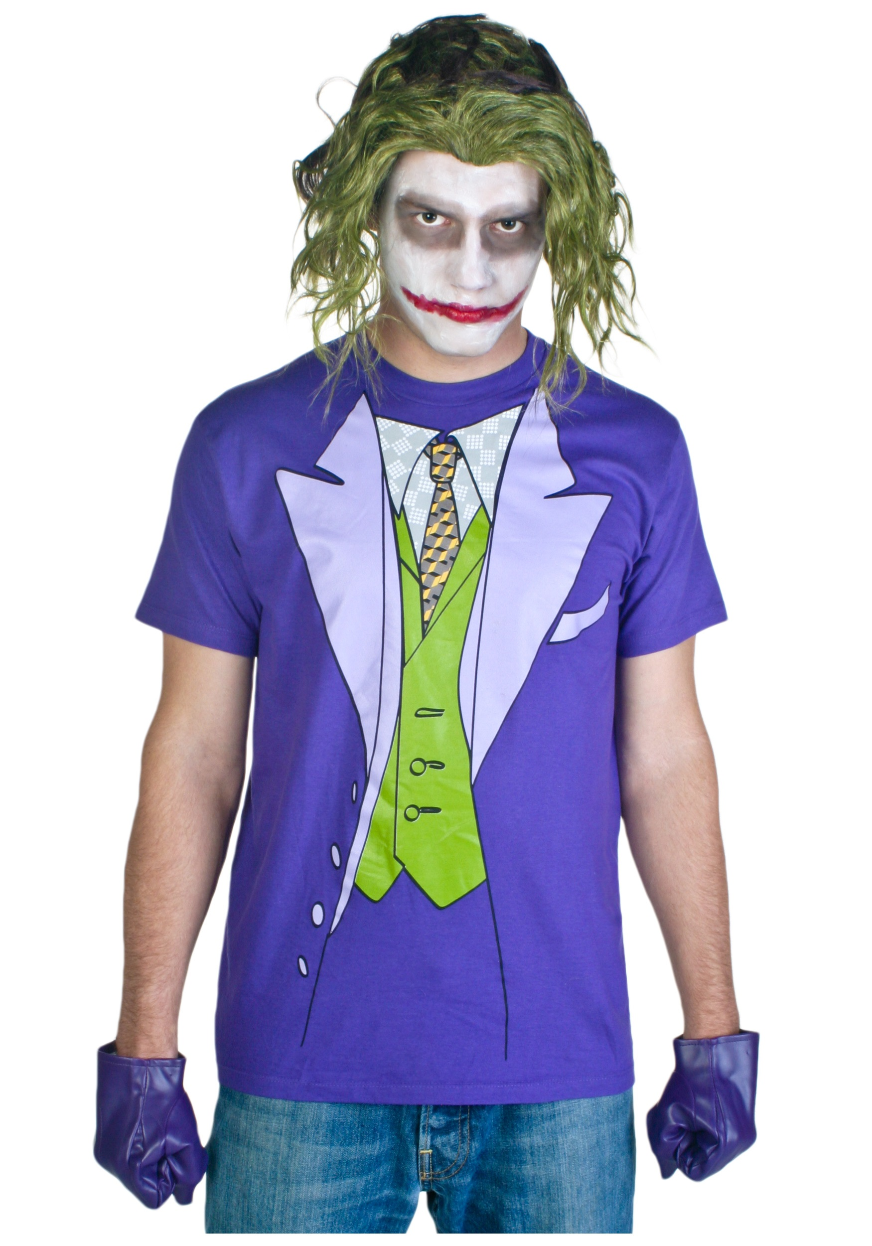 Men 39 s joker costume t shirt for Costume t shirts online
