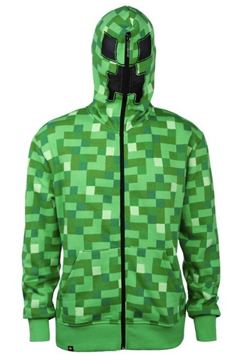Image of Adult Minecraft Creeper Hoodie