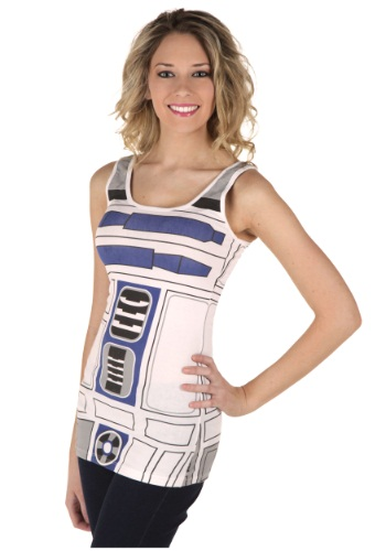 Womens R2D2 Tank Top By: Mighty Fine for the 2015 Costume season.