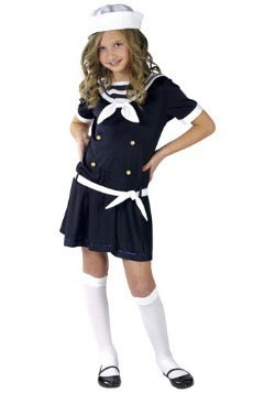 Girls Navy Sweet Sailor Costume