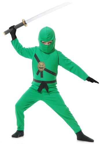 Green Ninja Costume for Kids