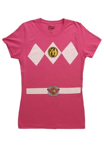 Image of Womens Pink Power Ranger Costume T-Shirt