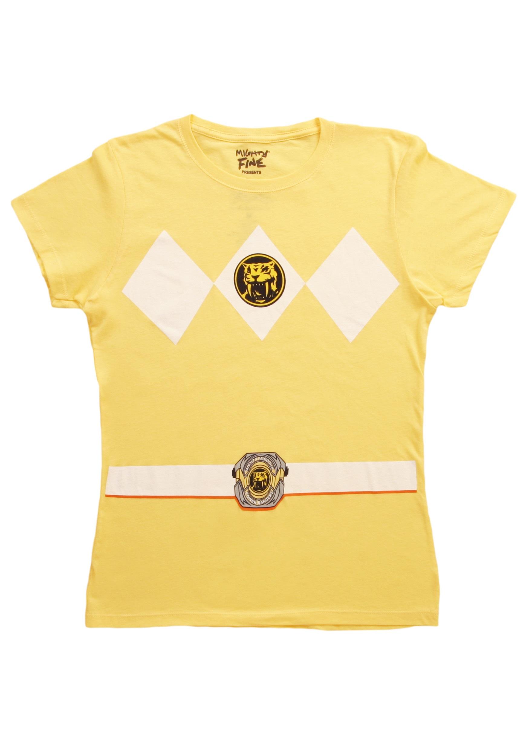 Womens Yellow Power Ranger Costume T Shirt