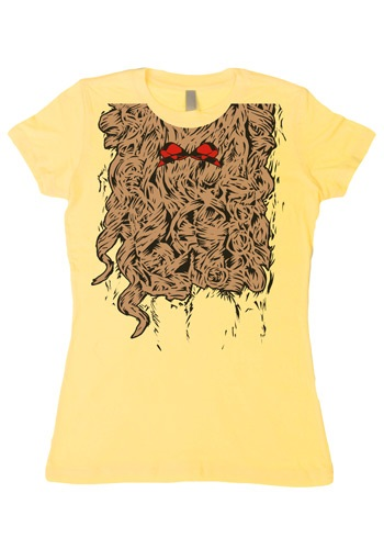 Womens Curly Lion Costume T-Shirt