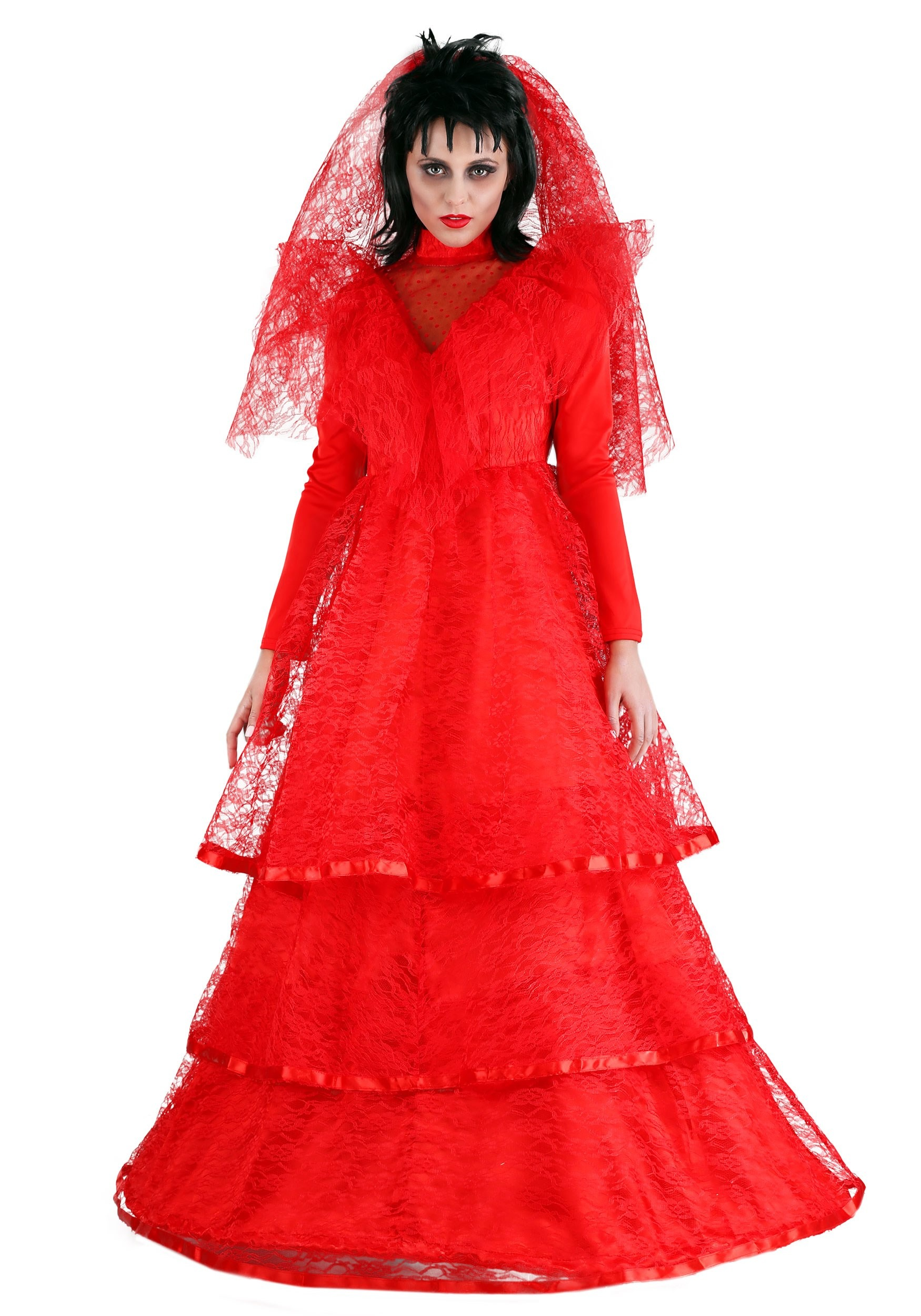 Red Gothic Wedding Dress Plus Size Costume