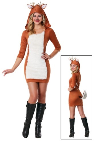 Click Here to buy Plus Size Sexy Deer Costume from HalloweenCostumes, CDN Funds