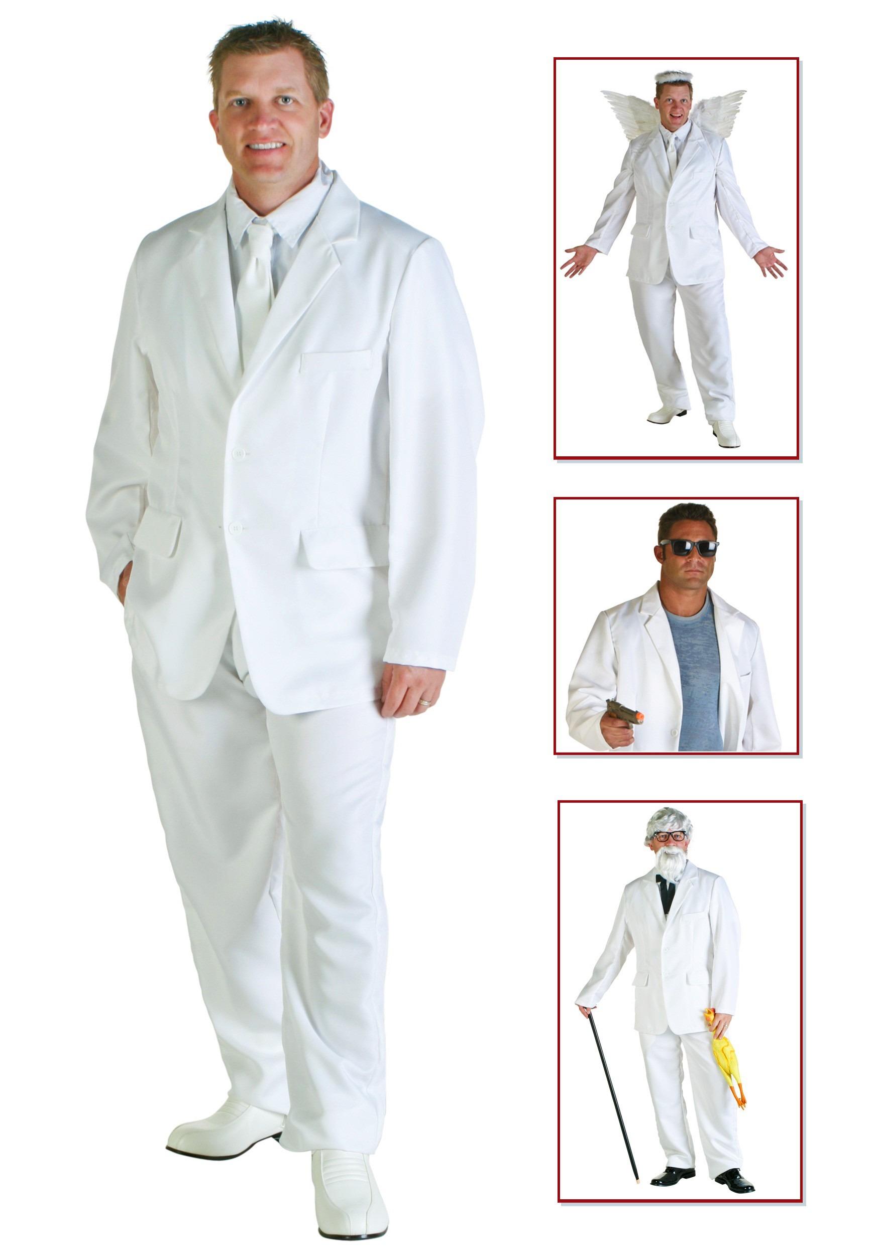 Plus Size White Suit Costume