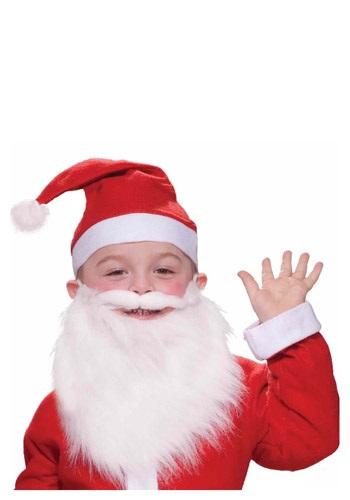 Click Here to buy Kids Santa Beard and Moustache from HalloweenCostumes, USA Funds & Shipping