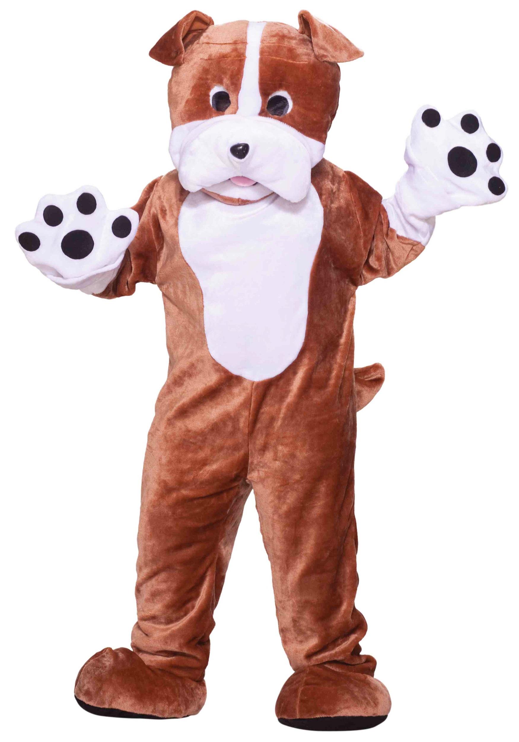 Plush Bulldog Mascot Costume