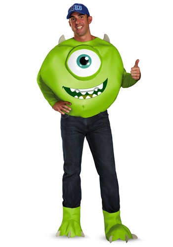 Click Here to buy Monsters Inc Deluxe Adult Mike Costume from HalloweenCostumes, CDN Funds