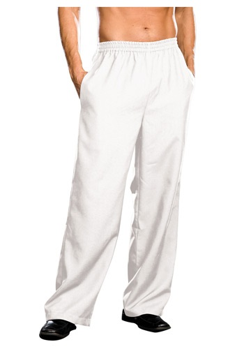Image of Plus Size Mens White Pants