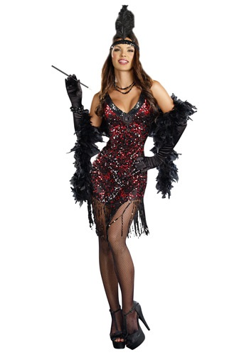 Click Here to buy Womens Dames Like Us Flapper Costume from HalloweenCostumes, CDN Funds