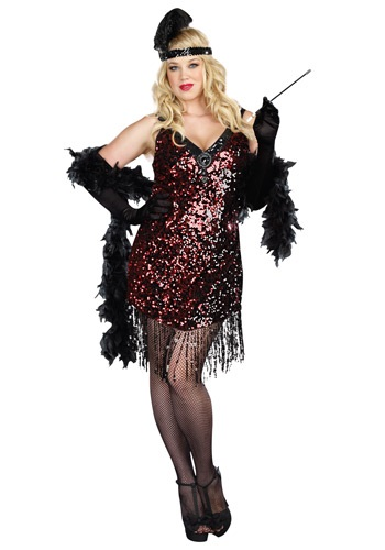 Image of Plus Size Dames Like Us Flapper Costume