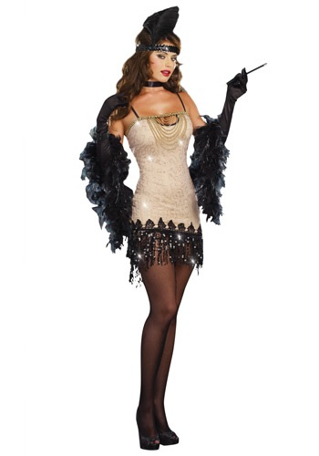 Click Here to buy Womens Jazzy Jezebel Flapper Costume from HalloweenCostumes, USA Funds & Shipping