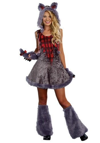 Click Here to buy Teen Full Moon Sassy Werewolf Costume from HalloweenCostumes, USA Funds & Shipping