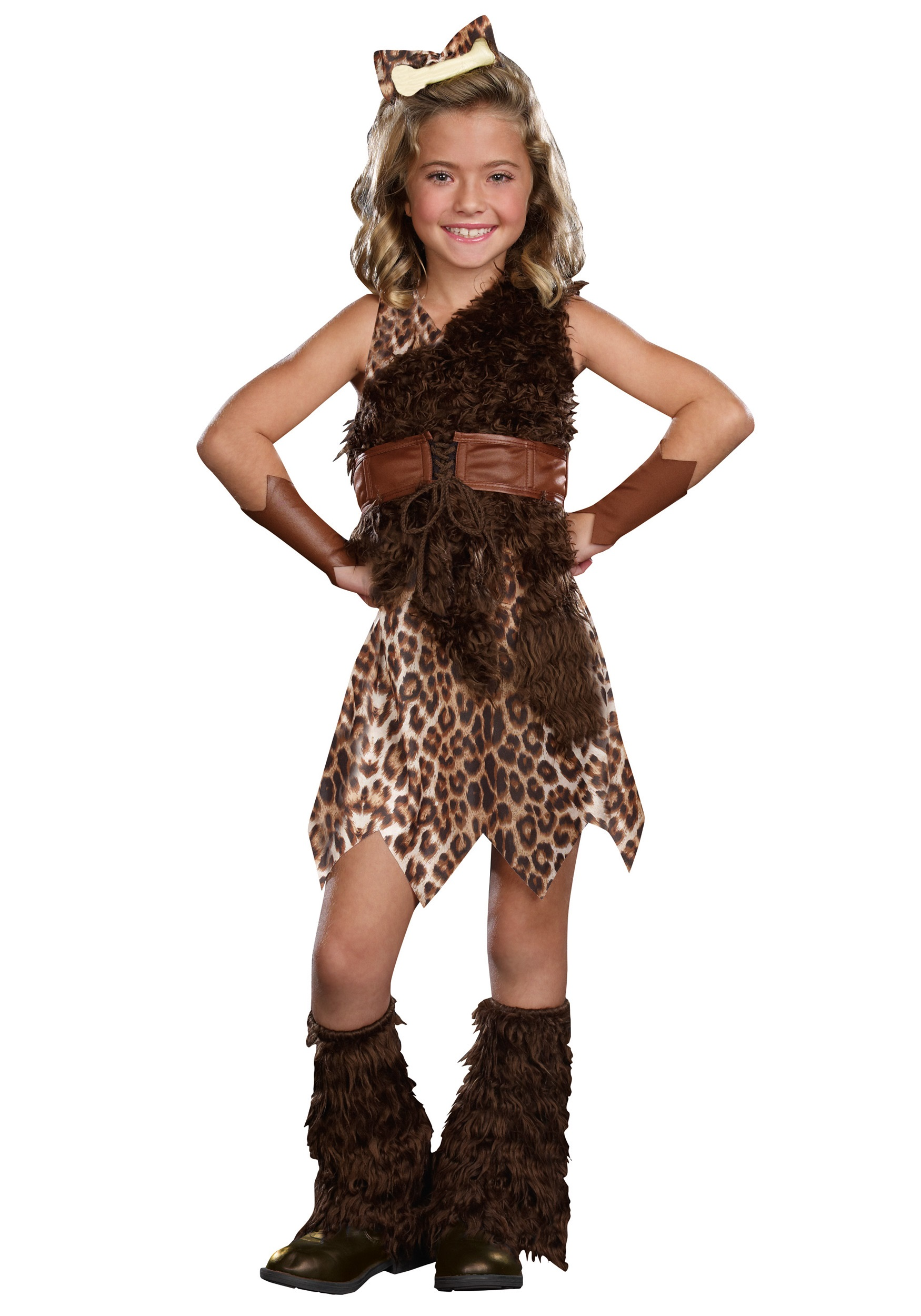 Halloween Outfits For Kids.Child Cave Girl Cutie Costume