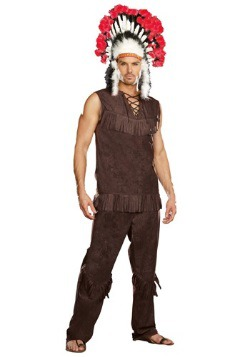 Mens Chief Long Arrow Indian Costume