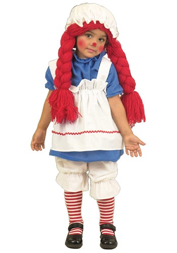 Image of Girls Little Rag Doll Costume