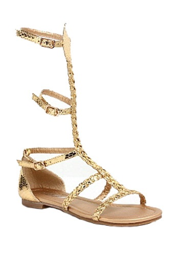 Click Here to buy Kids Egyptian Gold Sandals from HalloweenCostumes, USA Funds & Shipping