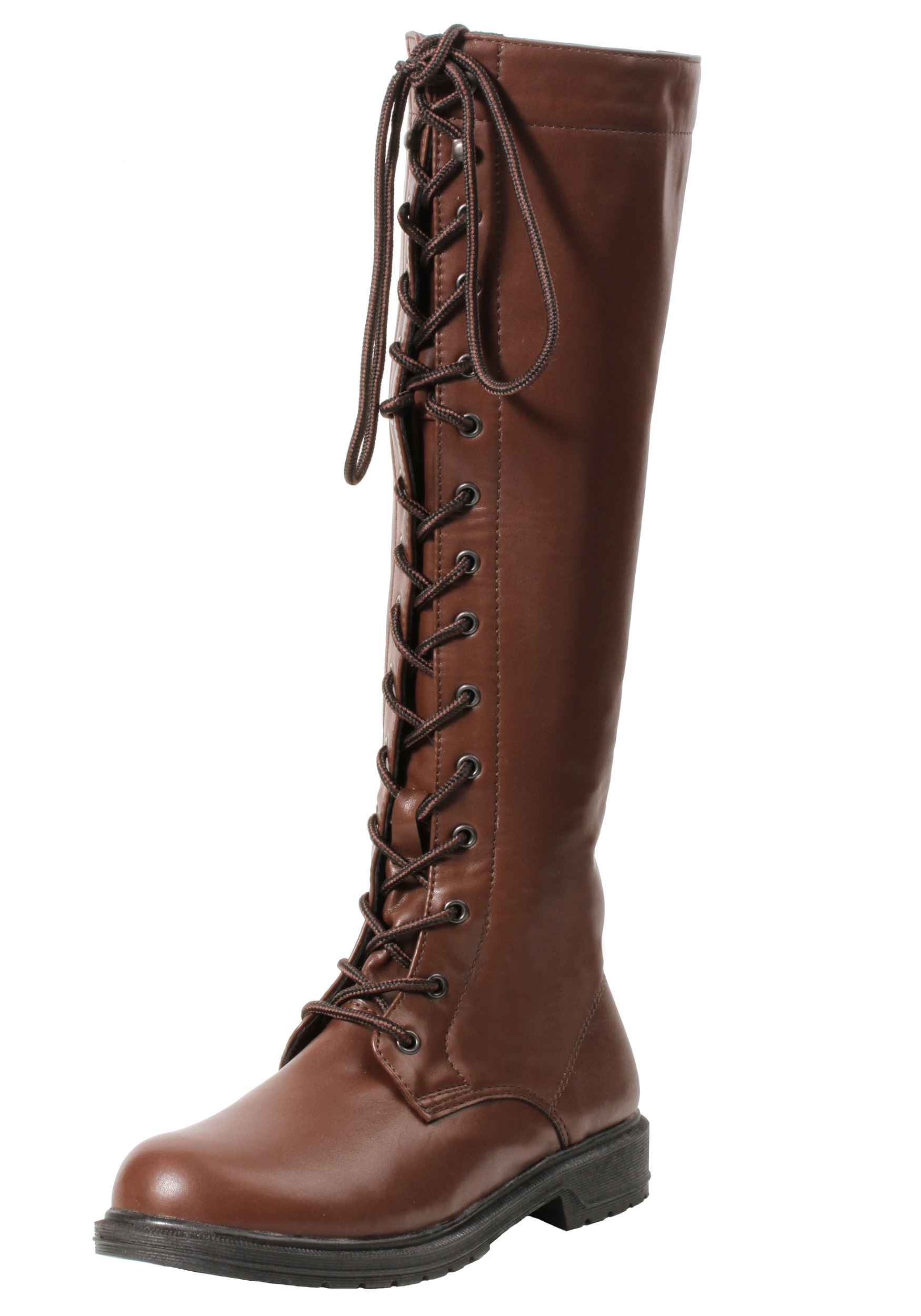 s brown lace up boots