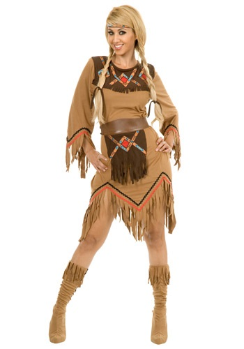 Click Here to buy Womens Sacajawea Indian Maiden Costume from HalloweenCostumes, USA Funds & Shipping