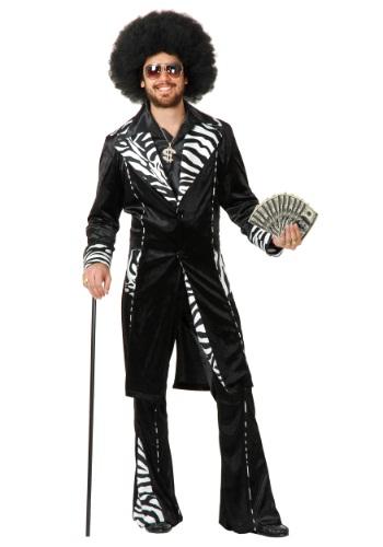 Plus Size Mac Daddy Pimp Costume for Men