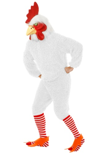 Plus Size White Rooster Costume By: Charades for the 2015 Costume season.