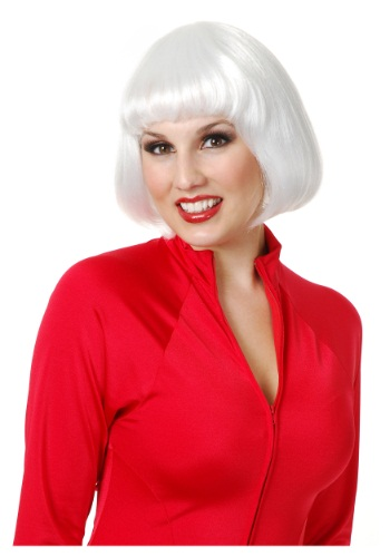 White Bob Wig By: Charades for the 2015 Costume season.