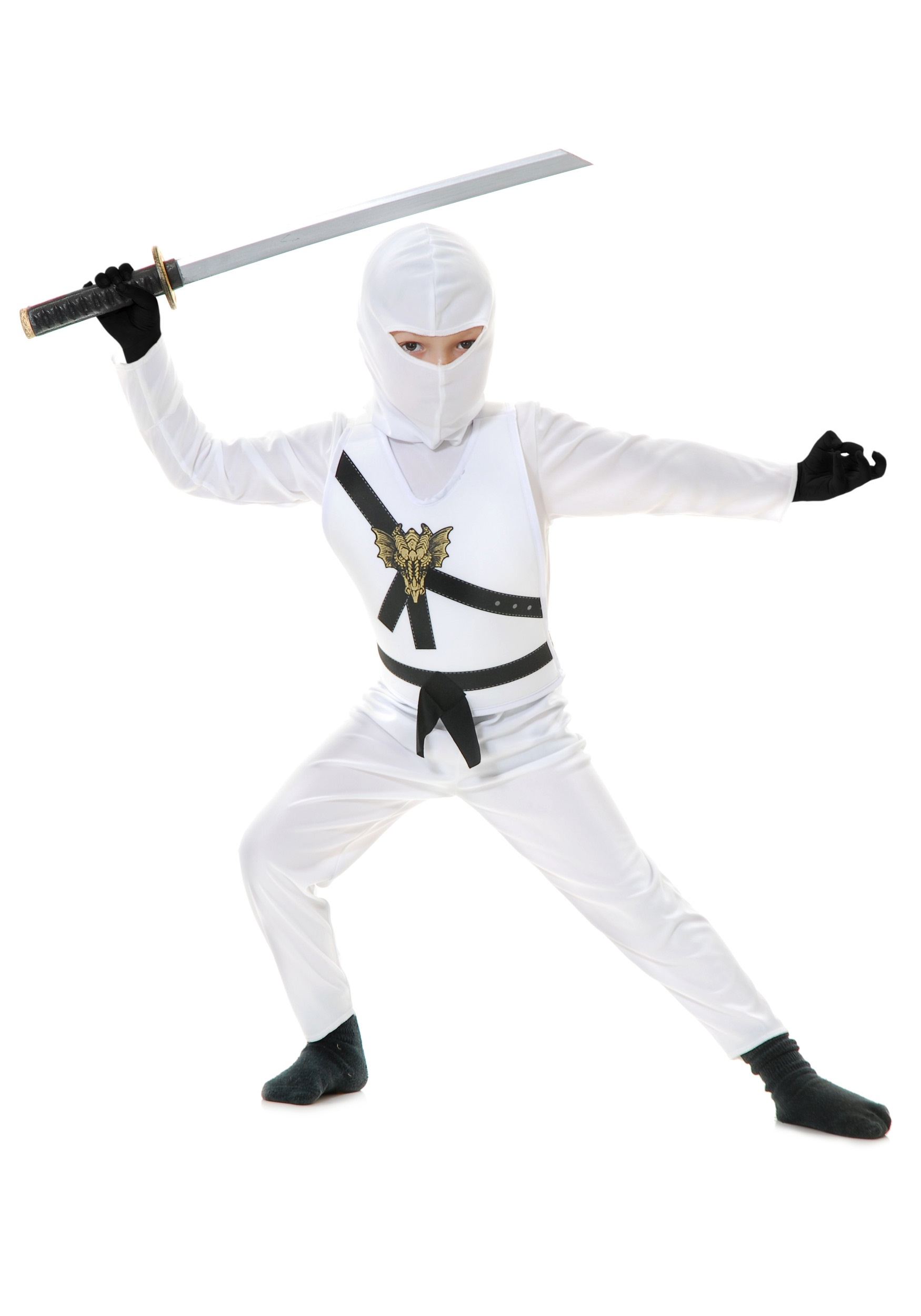 sc 1 st  Halloween Costumes & White Child Ninja Costume