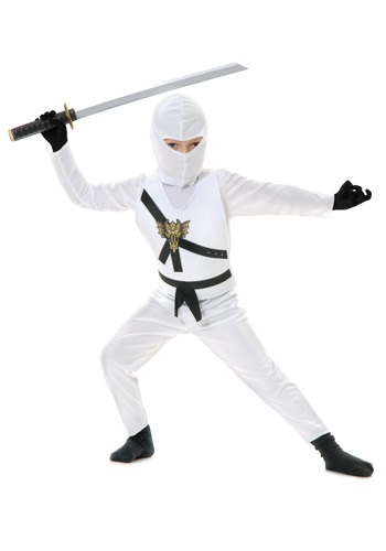 Click Here to buy White Kids Ninja Costume from HalloweenCostumes, CDN Funds