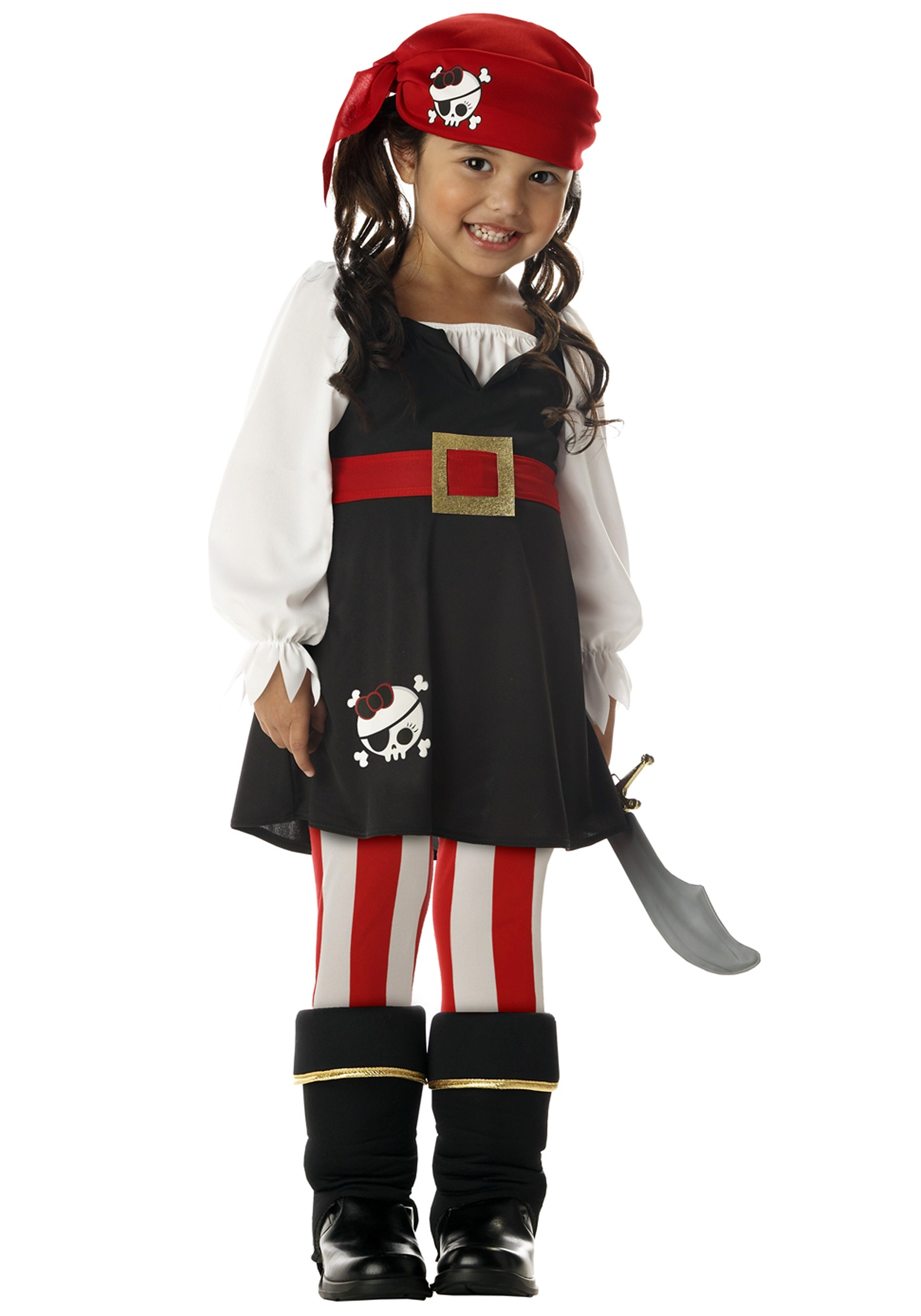 Toddler girls pirate costume for Simple halloween costumes for kids