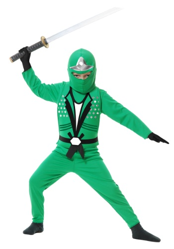 Click Here to buy Kids Ninja Avengers Series II Green Costume from HalloweenCostumes, USA Funds & Shipping