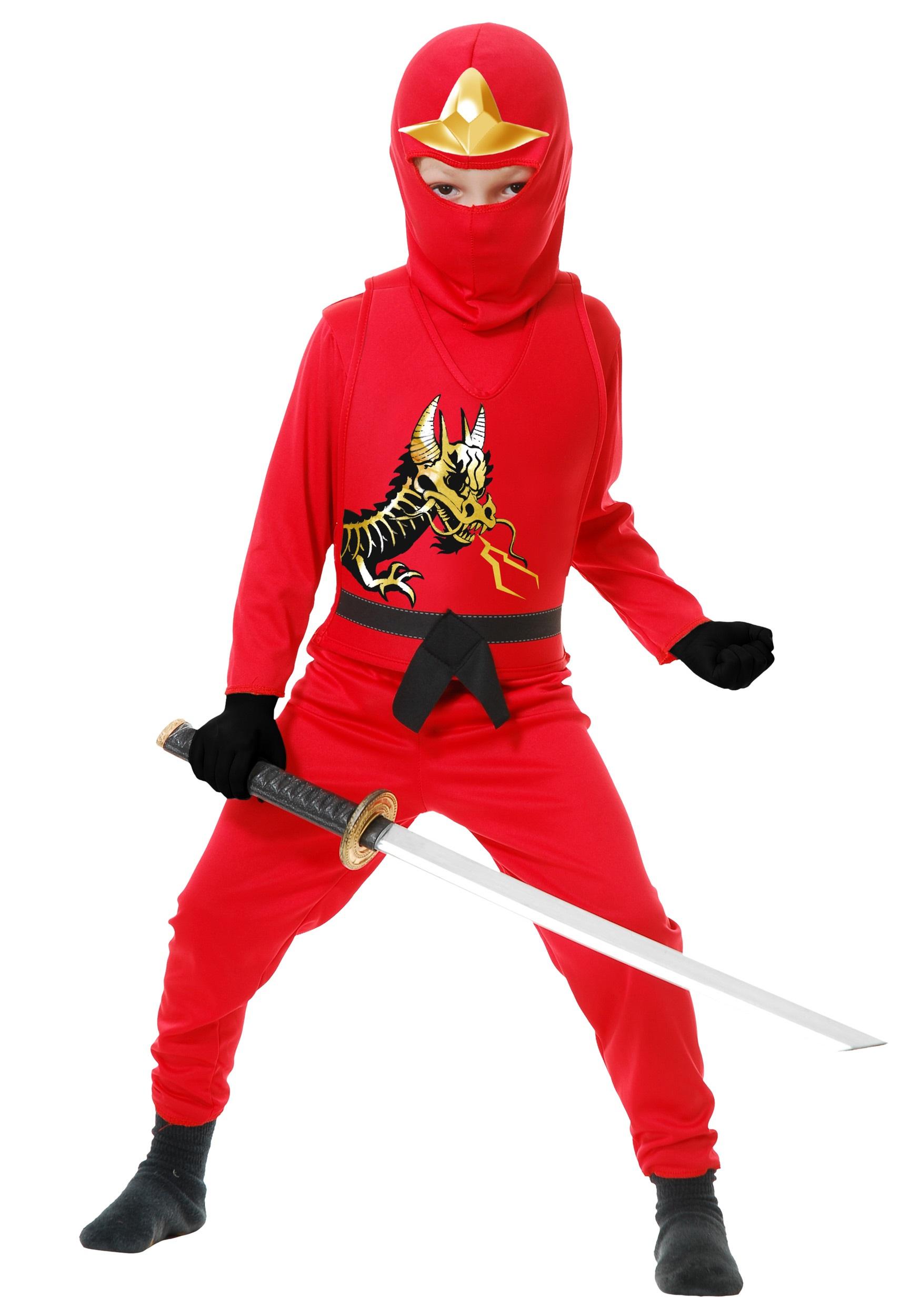 Child Ninja Avengers Series Ii Red Costume