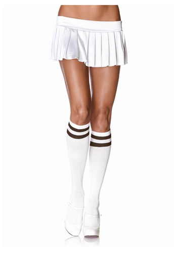 Athletic Knee High Stockings White and Black By: Leg Avenue for the 2015 Costume season.