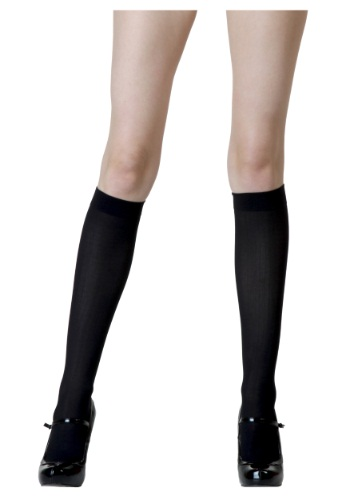 Black Knee High Stockings