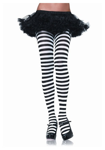Black & White Striped Tights By: Leg Avenue for the 2015 Costume season.
