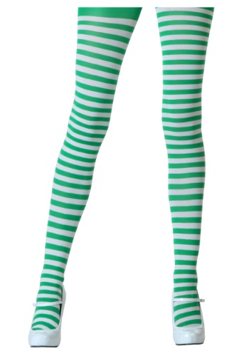 Click Here to buy White / Kelly Green Tights from HalloweenCostumes, CDN Funds