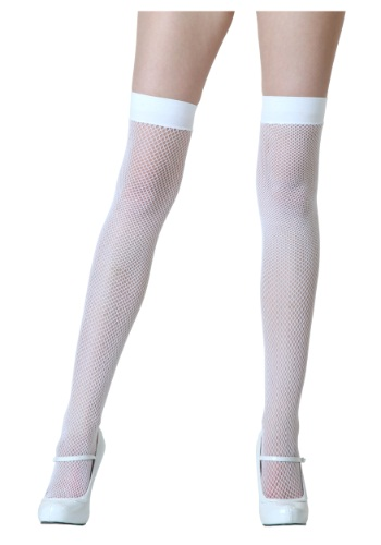 Thigh High White Stockings By: Leg Avenue for the 2015 Costume season.