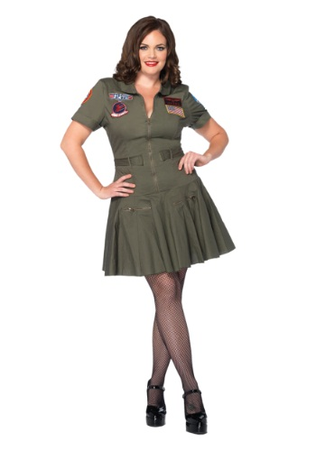 Plus Size Top Gun Flight Dress Halloween Costume