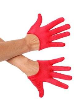 Red Mini Cropped Satin Gloves1